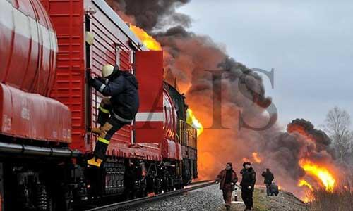 Тушение пожаров на железнодорожном транспорте