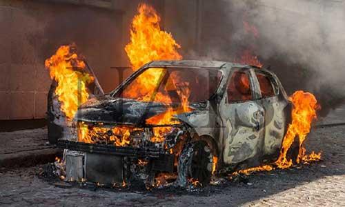 Тушение пожаров на автотранспорте