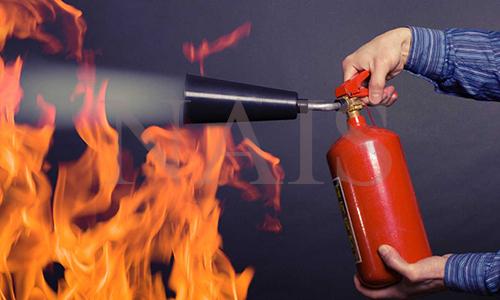 як гасити пожежу