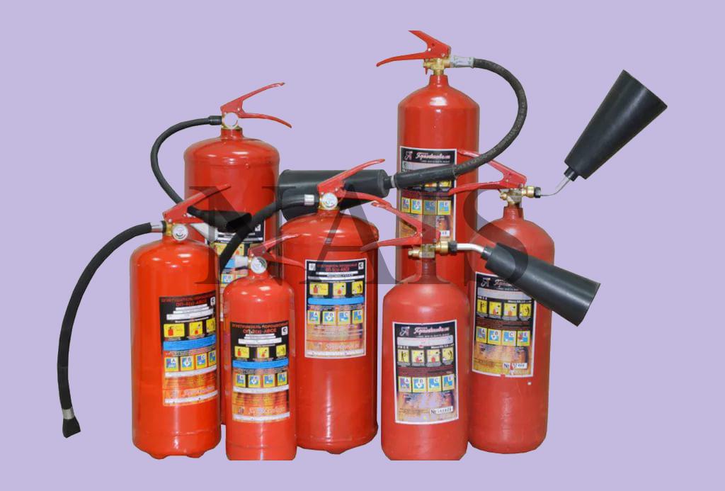 какие бывают виды огнетушителей